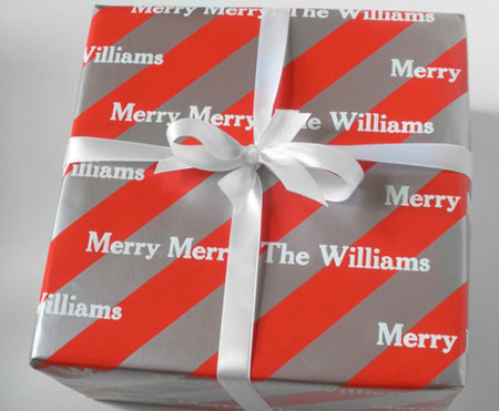 Name Maker Personalized Gift Wrap - Peppermint Ice