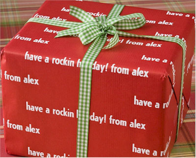 Name Maker Personalized Gift Wrap - Reno Red
