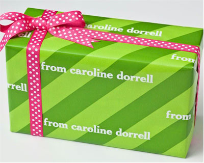 Name Maker Personalized Gift Wrap - Sour Apple