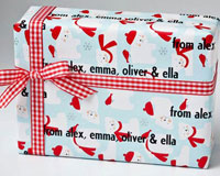 Name Maker Personalized Gift Wrap - Beary Christmas