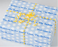 Name Maker Personalized Gift Wrap - Bluetiful Dots