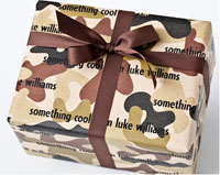 Name Maker Personalized Gift Wrap - Camo