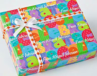 Name Maker Personalized Gift Wrap - Celebrate