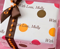 Name Maker Personalized Gift Wrap - Fall Dots