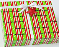 Name Maker Personalized Gift Wrap - Hampton Holiday