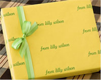Name Maker Personalized Gift Wrap - Louisville Lemon