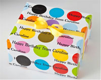 Name Maker Personalized Gift Wrap - Multi Mega Dot