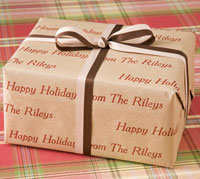 Name Maker Personalized Gift Wrap - Natural Kraft (Recycled Paper)
