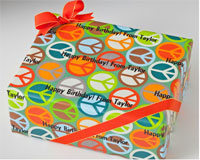 Name Maker Personalized Gift Wrap - Peace Out