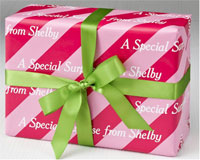 Name Maker Personalized Gift Wrap - Pixie Pink