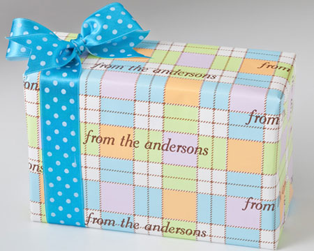 Name Maker Personalized Gift Wrap - Pastel Plaid
