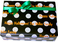Name Maker Personalized Gift Wrap - Black Dot