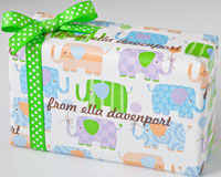 Name Maker Personalized Gift Wrap - Elephant Parade