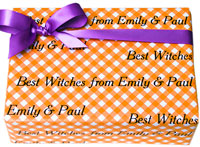 Name Maker Personalized Gift Wrap - Halloween Gingham