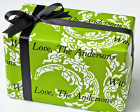 Name Maker Personalized Gift Wrap - Sophisticated Scrolls