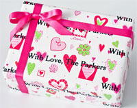 Name Maker Personalized Gift Wrap - I Heart You
