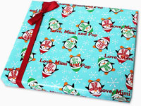 Name Maker Personalized Gift Wrap - Penguin Party