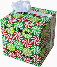 Name Maker Personalized Gift Wrap - Peppermint Swirl