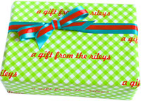Name Maker Personalized Gift Wrap - Christmas Gingham Style