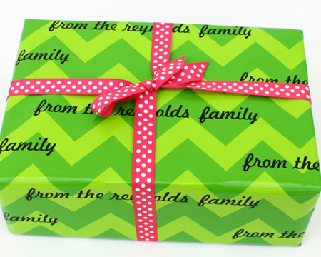 Name Maker Personalized Gift Wrap - Chic Chevron