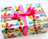 Name Maker Personalized Gift Wrap - Fun Flowers