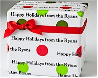 Name Maker Personalized Gift Wrap - Holiday Dots