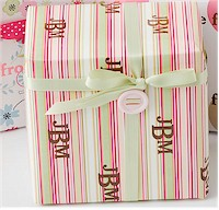 Name Maker Personalized Gift Wrap - Watermelon Stripe