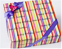 Name Maker Personalized Gift Wrap - Sorbet Stripe