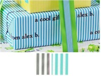 Name Maker Personalized Gift Wrap - Create-Your-Own Striped
