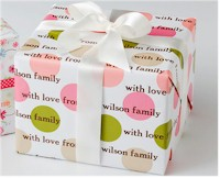 Name Maker Personalized Gift Wrap - Summer Spots