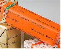 Name Maker Personalized Gift Wrap - Candy Corn Orange