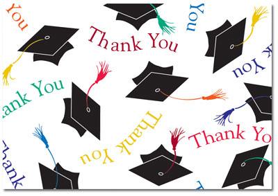 Masterpiece Studios - Mortar Board Thank You Note Card (Graduation) (13802)