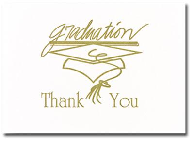 Masterpiece Studios - Gold Graduation Thank You Note Card (Graduation)