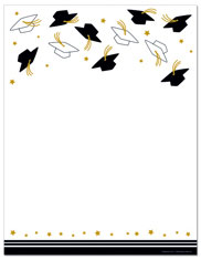 Imprintable Blank Stock - Hat Toss Letterhead (Graduation) by Masterpiece Studios (ISO)
