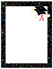 Imprintable Blank Stock - Grad Swirls Letterhead (Graduation) by Masterpiece Studios