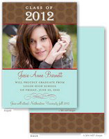 Take Note Designs - Brown and Aqua Graduation Announcements (Photo)