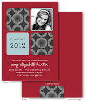 Take Note Designs - Dark Grey and Red Graduation Announcements (Photo)