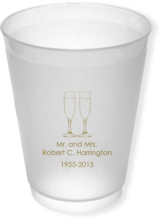 Great Gifts by Chatsworth - Reusable Flexible Cups (Champagne Flutes)
