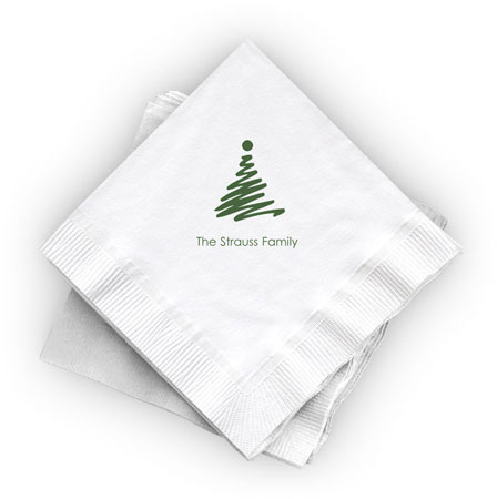 Great Gifts by Chatsworth - Cocktail Napkins (Christmas Tree)