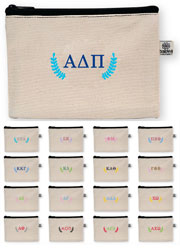 Sorority Cosmetic Bags by Donovan Designs (Embroidered Greek Bittie Bag Stripe)