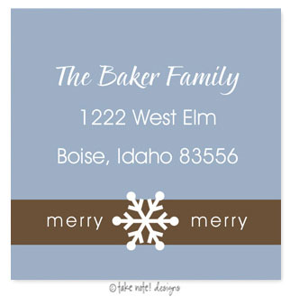 Take Note Designs - Address Labels (Denim and Chocolate Square)