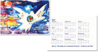 Another Creation by Michele Pulver Holiday Greeting Cards - Crayon Dove with Calendar