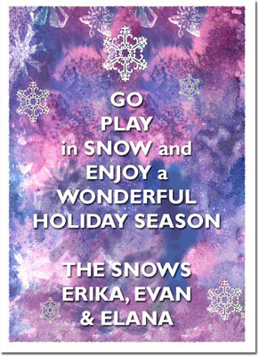 Another Creation by Michele Pulver Holiday Greeting Cards - Play in Snow
