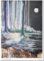 Another Creation by Michele Pulver Holiday Greeting Cards - A Walk in the Moonlight