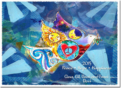 Another Creation by Michele Pulver Holiday Greeting Cards - Give Peace a Chance
