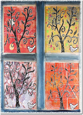 Another Creation by Michele Pulver Holiday Greeting Cards - Through My Window