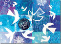 Another Creation by Michele Pulver Holiday Greeting Cards - Flight of Matisse's Doves