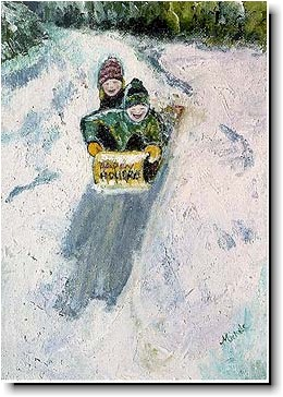 Another Creation by Michele Pulver Holiday Greeting Cards - Away We Go
