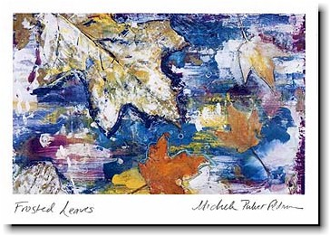 Another Creation by Michele Pulver Holiday Greeting Cards - Frosted Leaves