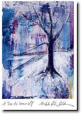 Another Creation by Michele Pulver Holiday Greeting Cards - A Tree As Seen In VT